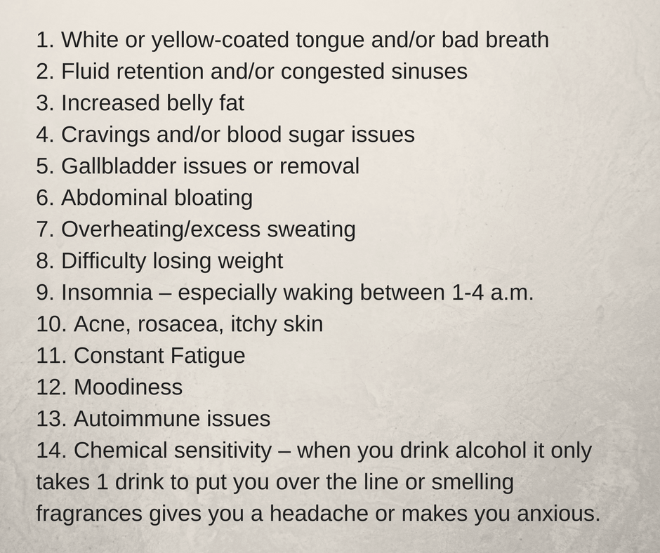 White or yellow-coated tongue and%2For bad breathFluid retention and%2For congested sinusesIncreased belly fatCravings and%2For blood sugar issuesGallbladder issues or you had it removedAbdominal bloatingOverheating%2Fexcess.png